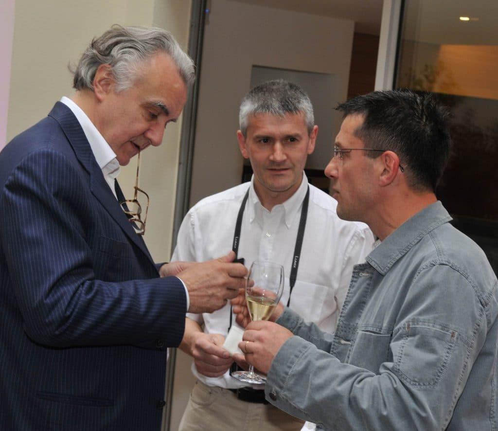 Philippe Chambriard avec son frère Dominique et Alain Ducasse