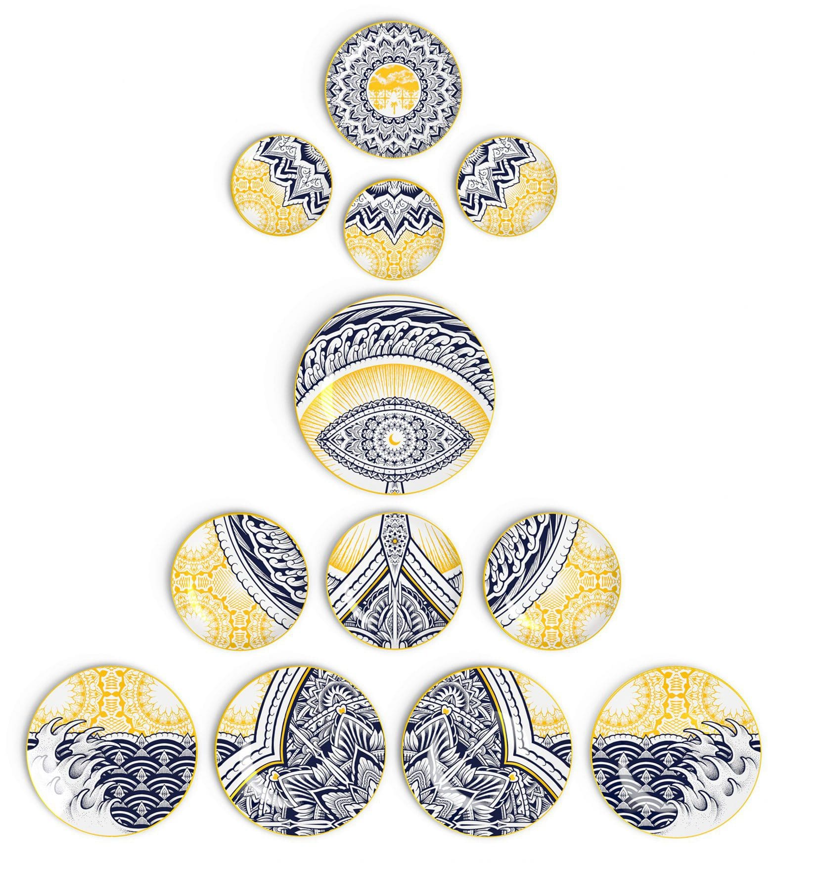 The Genesis Wall Plates by Jekyll Non Sans Raison porcelaine Limoges
