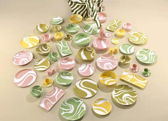 Vaisselle aux couleurs éclatantes - India Mahdavi - Monoprix