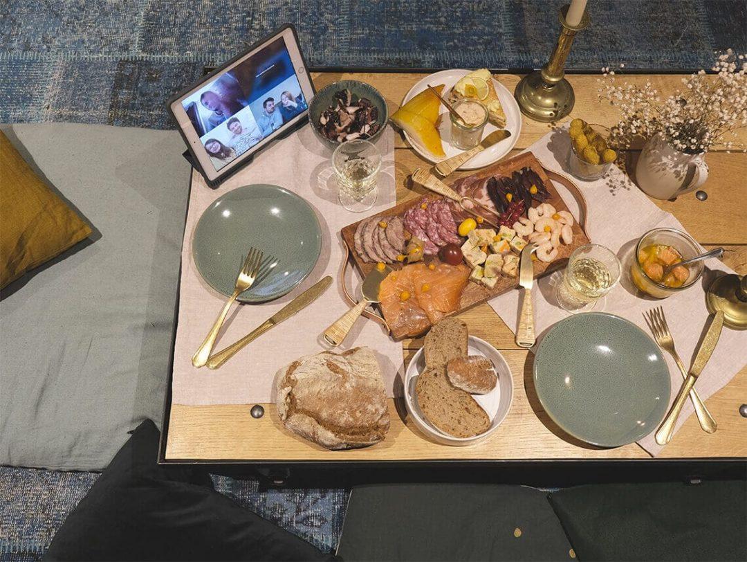 Insta'table Soirée en visio, par M.art.ion
