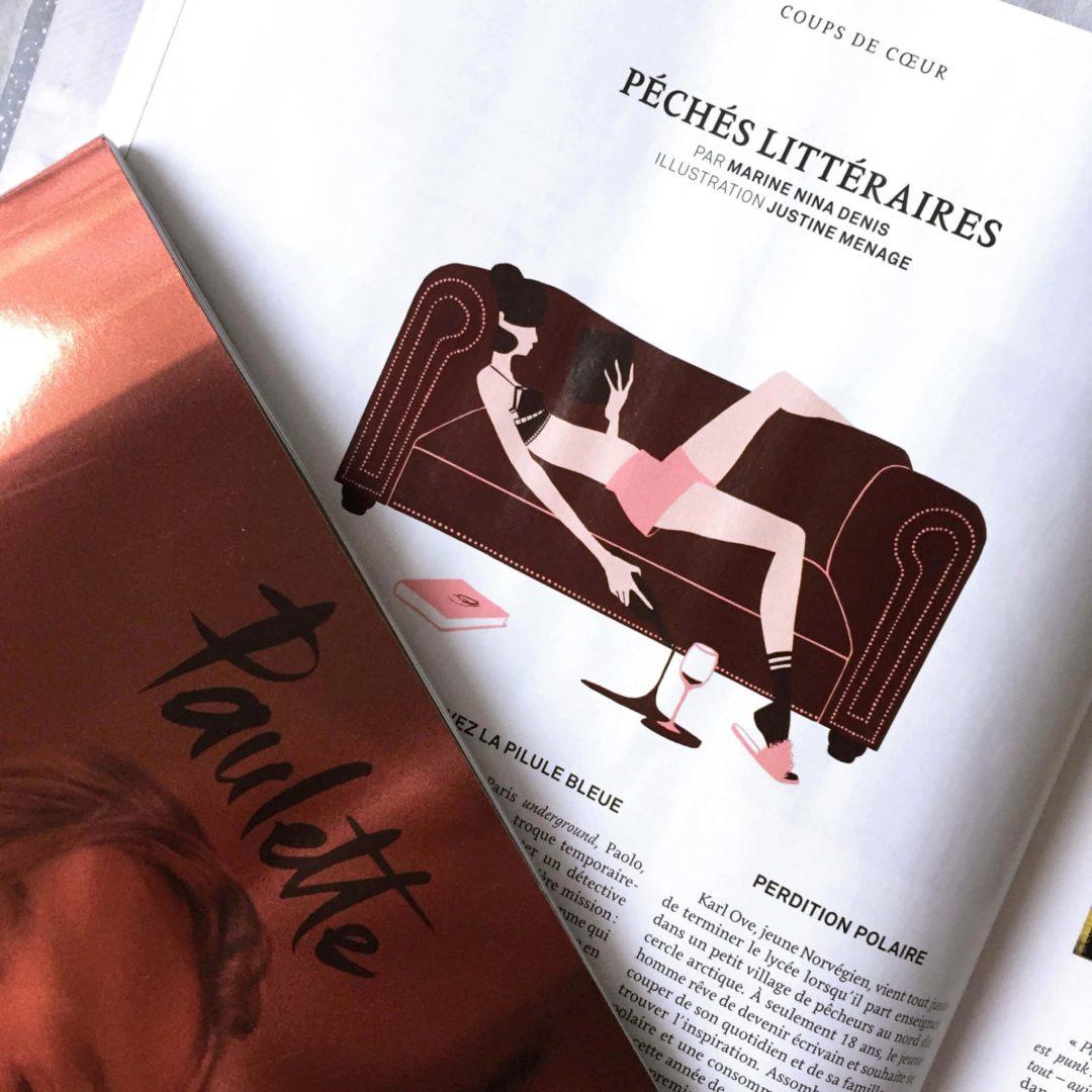 Paulette Magazine couverture réalisée par Justine Menage