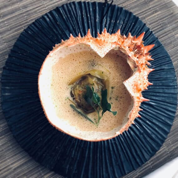 assiette araignee de mer David Gallienne