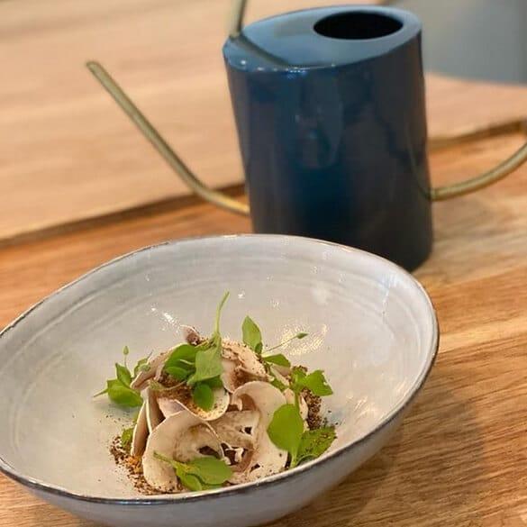 Assiette champignons David Gallienne