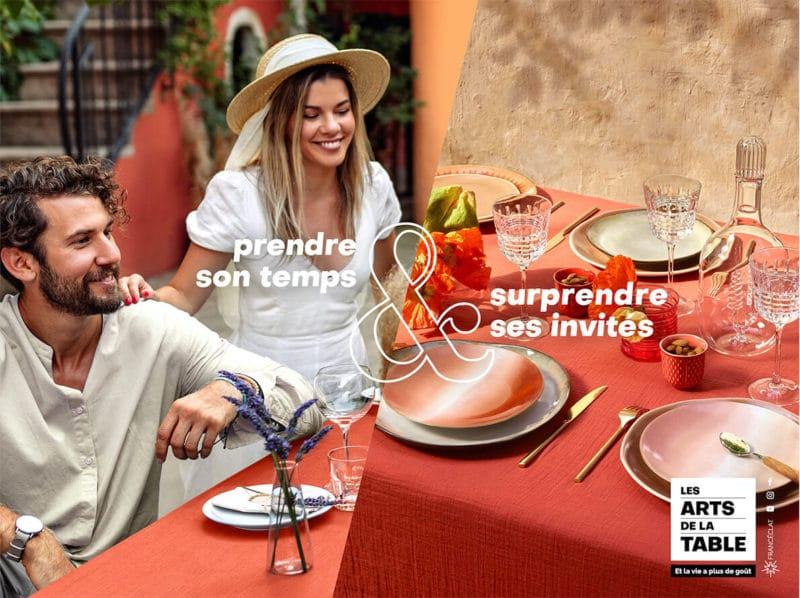 Table pour l'apéritif, les arts de la table