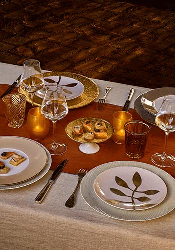 Dinons aux chandelles avec les arts de la table