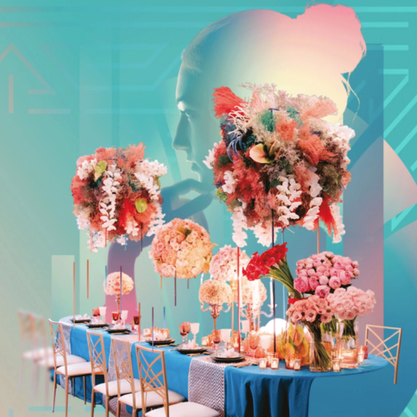 Wedding table contest avec les arts de la table