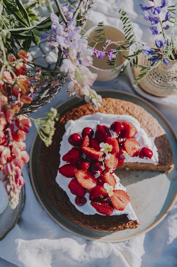 Recette du moelleux à la fraise par Griottes