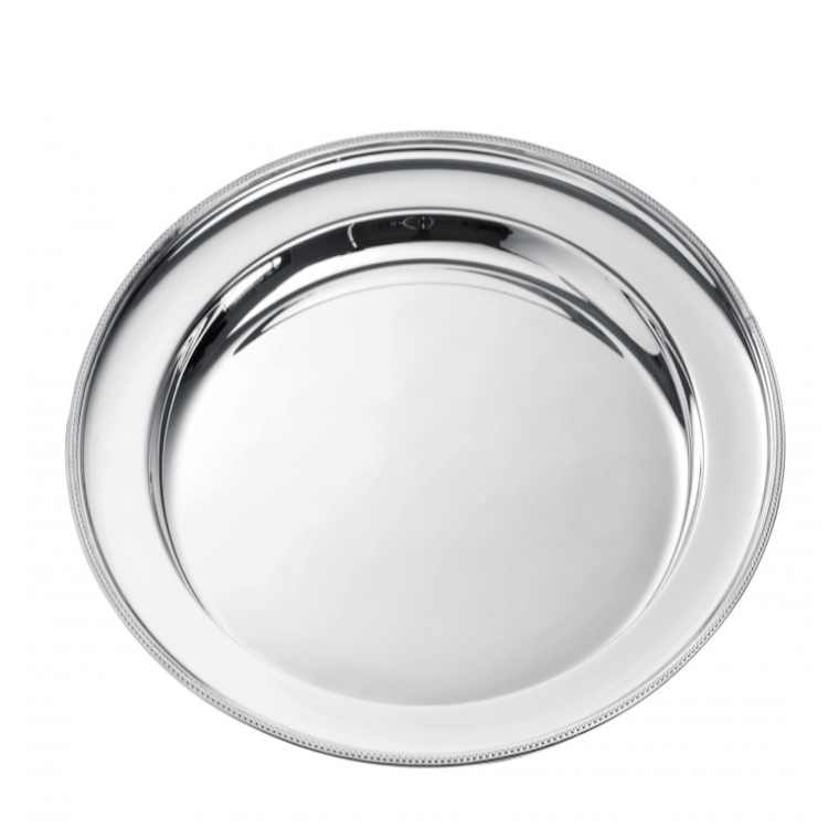 Collection PERLE - Plat rond, Ercuis