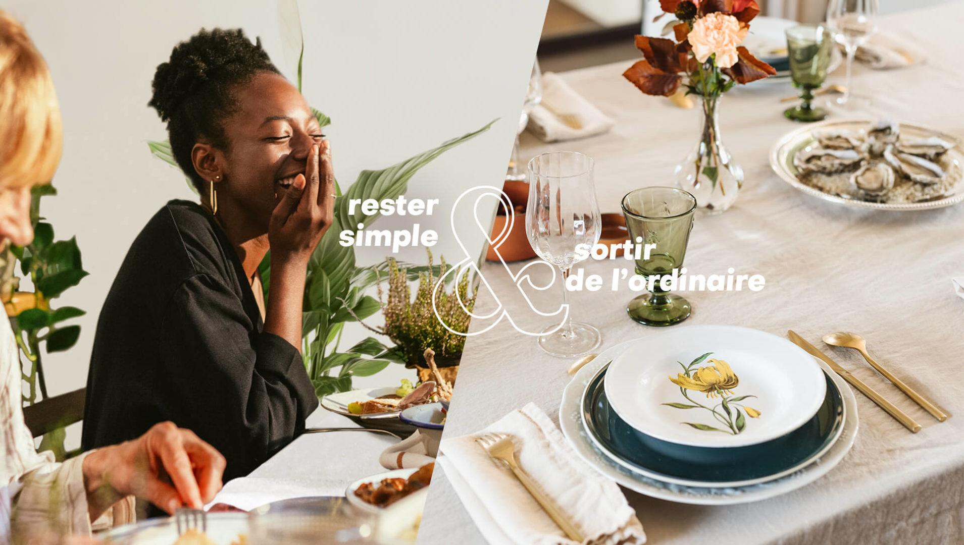 Rester simple & Sortir de l'ordinaire - automne - Les arts de la table